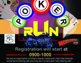 #33 for Inuagural poker run flyer by narayaniraniroy