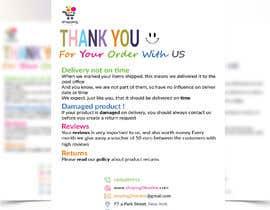 """Nro 22 kilpailuun A5 flyer """"thank you for your order"""" käyttäjältä Shafi77"""