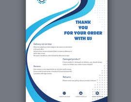 """Nro 17 kilpailuun A5 flyer """"thank you for your order"""" käyttäjältä anikgd"""