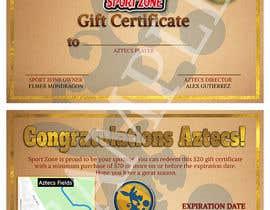 #2 untuk Create a Gift Certificate for soccer store oleh Zhellk