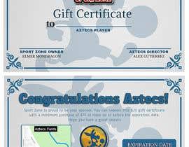 #4 untuk Create a Gift Certificate for soccer store oleh Zhellk