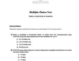 #8 for Create a Multiple Choice Test based on our Terms for our New Employees by kashmiranarain