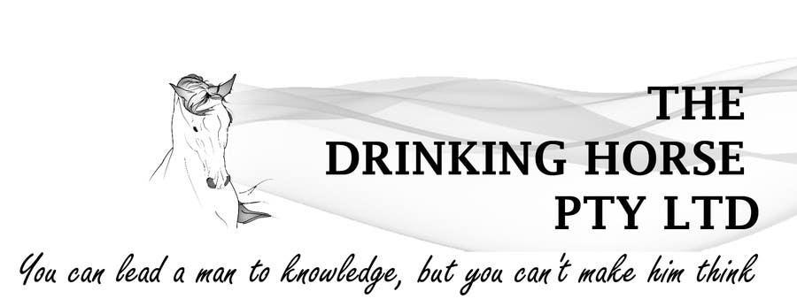 "Penyertaan Peraduan #                                        53                                      untuk                                         Design a Logo for ""THE DRINKING HORSE PTY LTD"""