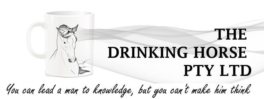 "Penyertaan Peraduan #                                        54                                      untuk                                         Design a Logo for ""THE DRINKING HORSE PTY LTD"""