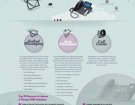 nº 5 pour Graphic Design for Business VOIP Single Page Site par bhaktilata