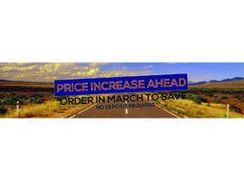 #18 for Website Banner - Price Rise Ahead. by aalimp