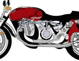 #3 cho Colouring, painting on the sketch of a motorcycle. bởi zerocool24