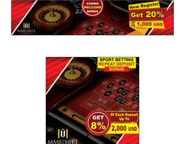 #19 for Banner design for soccer betting , casino and gambling website by sauravarts
