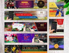 #27 for Banner design for soccer betting , casino and gambling website by fourtunedesign