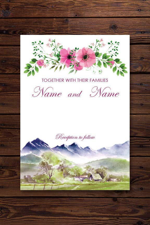 Entry 33 By Quay3010 For Design Wedding Invitation For A Farm