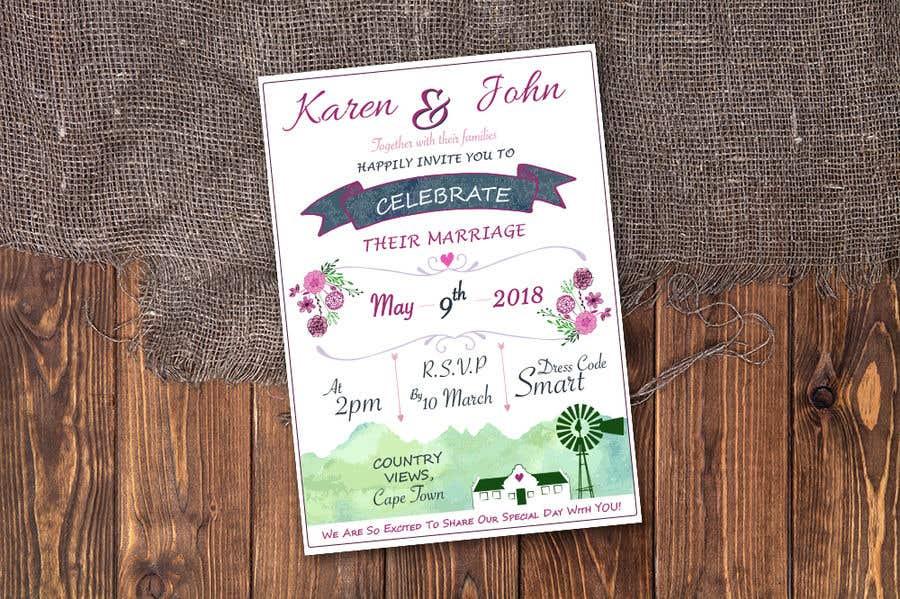 Entry 26 By Samanthajenine For Design Wedding Invitation For A Farm