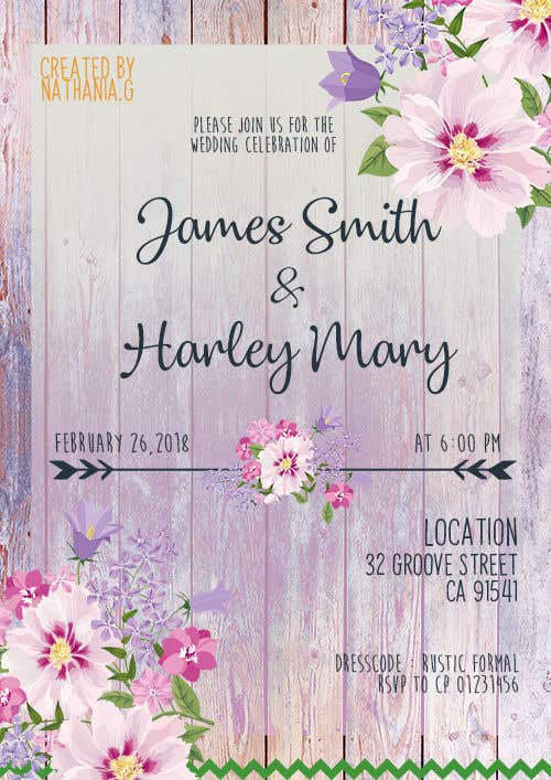 Entry 5 By Nathaniag For Design Wedding Invitation For A Farm