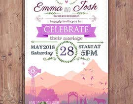 Nro 52 kilpailuun Design wedding invitation for a farm themed wedding käyttäjältä EolLotlan