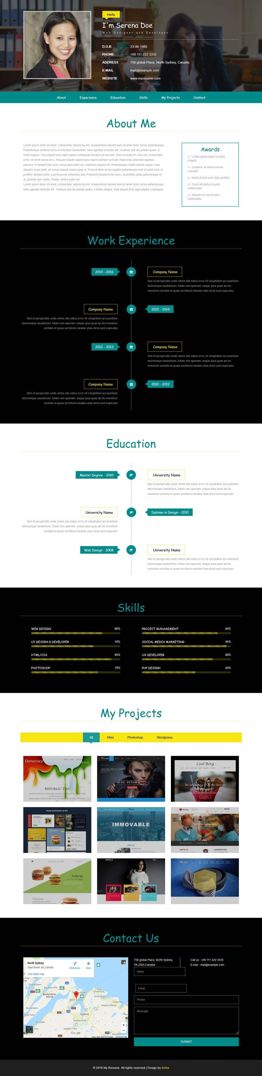 Entry  By Trishasen For Design Resume Templates With Css Html
