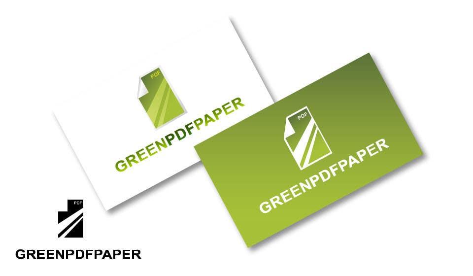 Penyertaan Peraduan #172 untuk Logo Design for Green PDF Paper