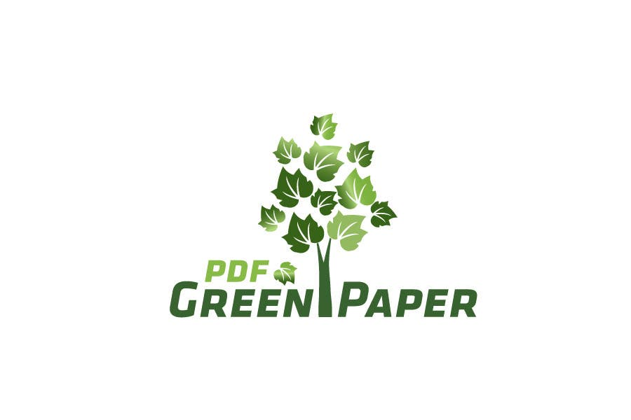 #337 for Logo Design for Green PDF Paper by CTLav