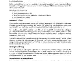 #7 for Write a Blog Post for a Renewable Energy Company by karugathuo