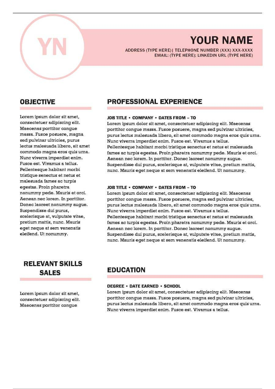 Create Modern Sales Resume Cover Letter Templates
