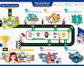 #44 untuk Illustrate an A3-One-Page Hackathon Poster oleh Tins11