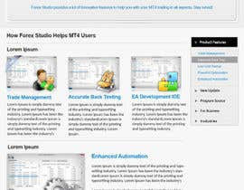 #28 para Website Design for Forex Studio product page por primeminister