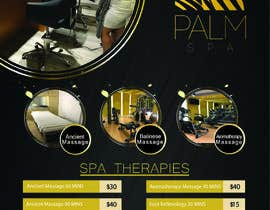#16 for Design a fold-able A4/A3 menu for Spa by AadiNation