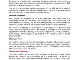 #6 for I.C.T Company's Profile Writing (Website Copy) by supersystemng