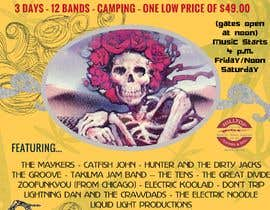 Nambari 73 ya 420 Deadhead Concert Poster design needed na JayDesk