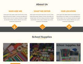 #4 for Mockup landing page for school supplies by Baljeetsingh8551
