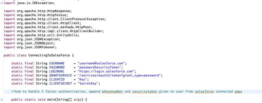 Entry #1 by Epiphanymania for Java API call t Salesforce to
