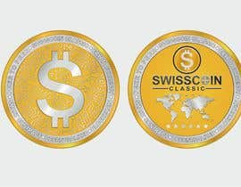 #42 for Design for a modern crypto coin the front and back in 3D. by engabousaleh