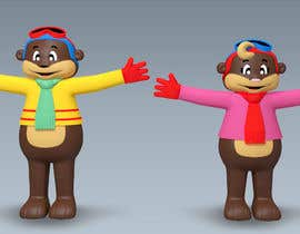 #15 for Draw two 3D image of bear mascots by artseba185