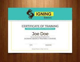 #82 for Certificate of Training by avizeet85