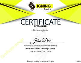 #97 for Certificate of Training by isramalik1989