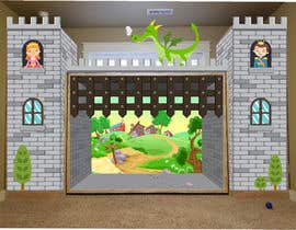 #12 for Illustrate castle-theme cabinet/bed in kids room by richardwct