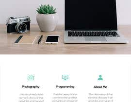 #12 for Personal landing page by temott