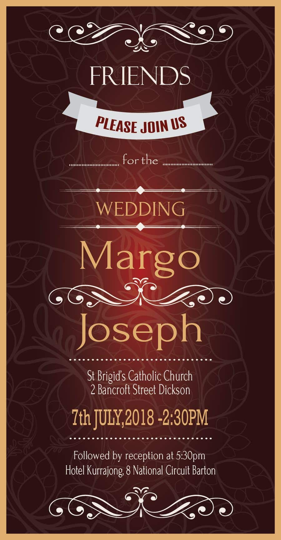 Entry #11 by aninditabohni for make wedding invites for text message ...