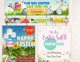 #45 for Set of Banners Needed to Promote Huge Easter Sale by fourtunedesign