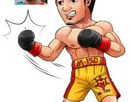 "#65 for Design an Asian Boxer Cartoon Character with 4 different punching actions/posts all in full body. (*Suggest to best use ""Srisaket Sor Rungvisai"" as the referral for the character) by satherghoees1"