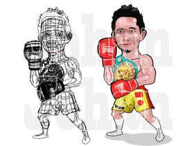 "#30 for Design an Asian Boxer Cartoon Character with 4 different punching actions/posts all in full body. (*Suggest to best use ""Srisaket Sor Rungvisai"" as the referral for the character) by JohanGart22"
