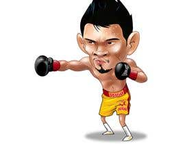 "#53 for Design an Asian Boxer Cartoon Character with 4 different punching actions/posts all in full body. (*Suggest to best use ""Srisaket Sor Rungvisai"" as the referral for the character) by megatmarzuqi"