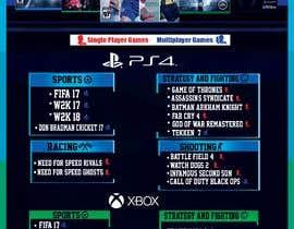 #34 , Design a menu card for Game studio 来自 emanadel96