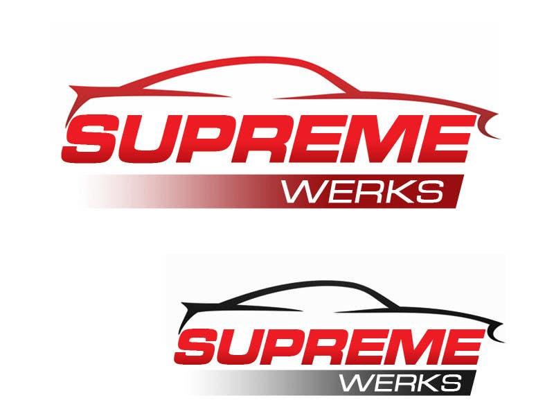 Inscrição nº 134 do Concurso para Logo Design for Supreme Werks (eCommerce Automotive Store)