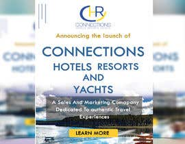"Nro 5 kilpailuun Header - ""Announcing the launch of Connections Hotels Resorts and Yachts"" . One evocative image (I welcome suggestions or I will provide) and copy with contact details for click through (again, welcome suggestions or I can provide) www.connectionshry.com käyttäjältä nipapanday"