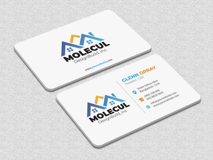 Entry #7 by iqbalsujan500 for 2 sided Business Card Layout & Logo ...