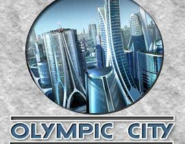 #2 for Logo skyline view of a 2D smart city that is cyber, high-tech utopia with futuristic buildings and overlay indicating smart technology features. by Ejoselle