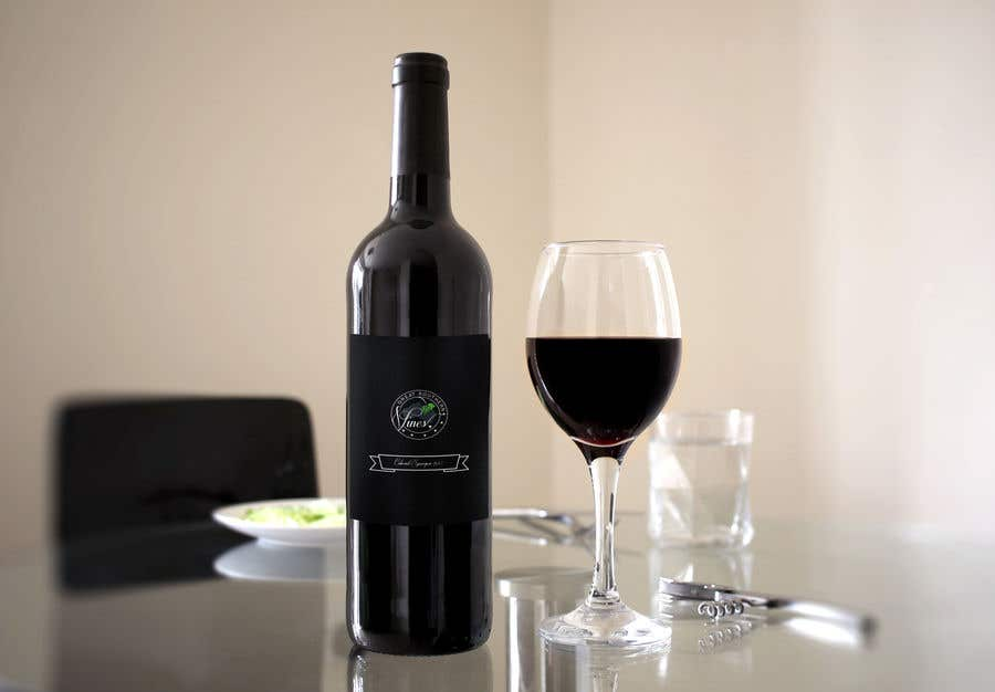 Contest Entry #                                        8                                      for                                         Design our wine label using our logo