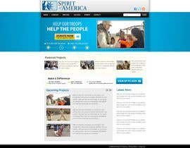 #11 Website Design for Spirit of America részére gaf001 által