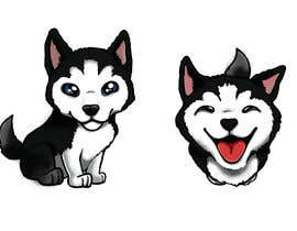 #33 dla Artist create original Siberian Husky Puppy Cartoon Character for Large sticker pack przez oaseqomaravw