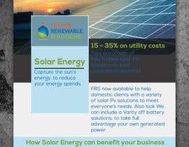 #31 for Design a Flyer for Renewable energy comapny by colorgraph
