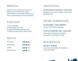 #13 for Create an infographic CV by katrinalabra
